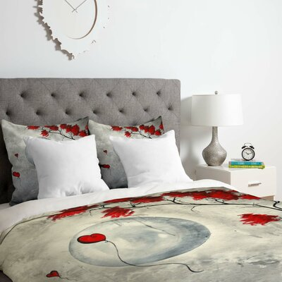 The Moon Duvet Cover Set Size: Twin/Twin XL