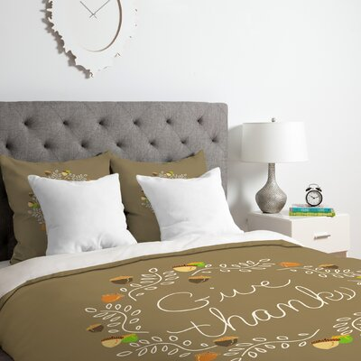 Giving Thanks Duvet Cover Set Size: King