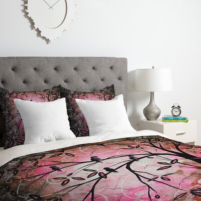 Cherry Blossoms Duvet Cover Set Size: Twin/Twin XL