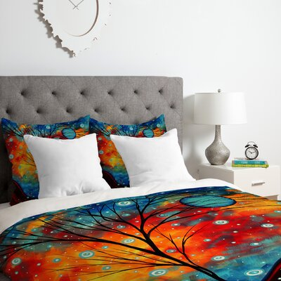 Madart Inc.Summer Snow Duvet Cover Set Size: King