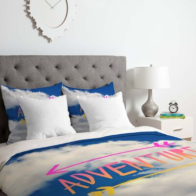 Leah Flores Adventure Sky Duvet Cover Set Size: King