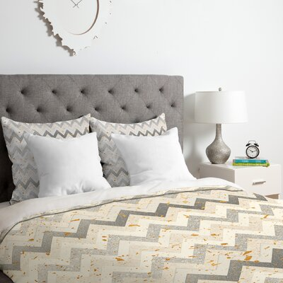 Chevron Confetti Duvet Cover Set Size: Queen