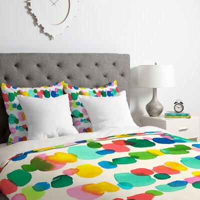 Watercolor Dots Duvet Cover Set Size: Twin/Twin XL