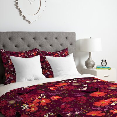 Blackbird Sings Duvet Cover Set Size: King
