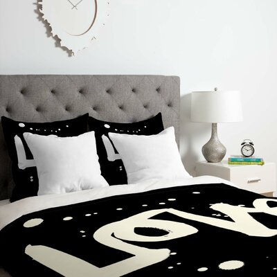 Love Duvet Cover Set Size: Twin/Twin XL