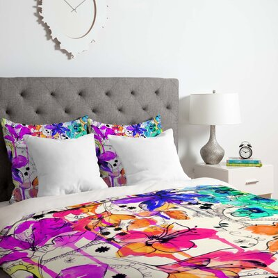 Lost in Botanica 1 Duvet Cover Set Size: Queen
