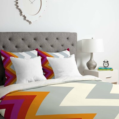 Karen Harris Modernity Solstice Warm Duvet Cover Set Size: King