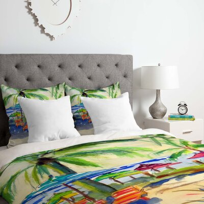 Caribbean Time Duvet Cover Set Size: King