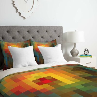 Glorious Colors Duvet Cover Set Size: King