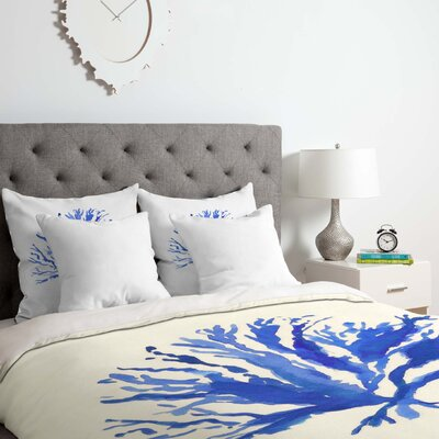 Sea Coral Duvet Cover Set Size: Queen