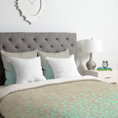 Iveta Abolina Hint of Mint Duvet Cover Set Size: King