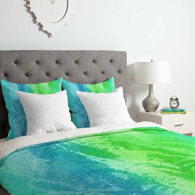 Caribbean Sea Duvet Cover Set Size: King