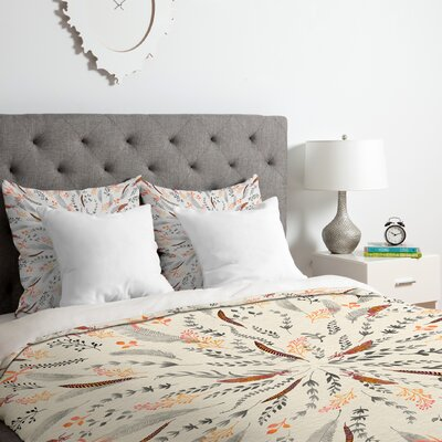 Iveta Abolina Feather Roll Duvet Cover Set Size: King
