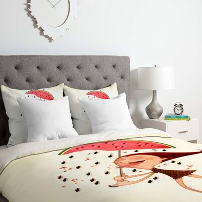 Watermelon Duvet Cover Set Size: Queen