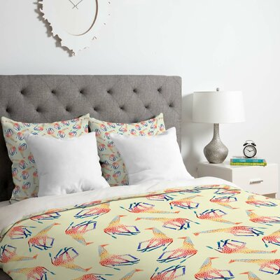 Watercolor Giraffe Duvet Cover Set Size: Twin/Twin XL