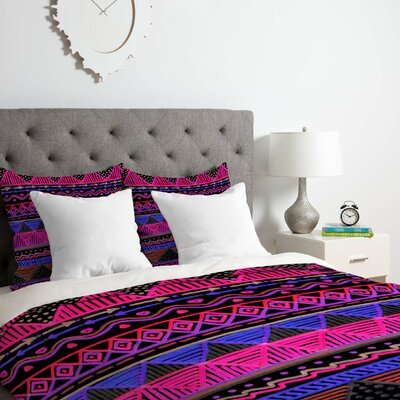 Neon Duvet Cover Set Size: Queen