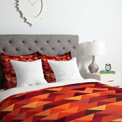 Triangle rain Duvet Cover Set Size: King