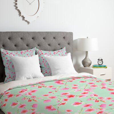 Cherry Blossom Duvet Cover Set Size: Twin/Twin XL
