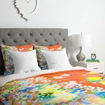 Coral Delight Duvet Cover Set Size: Queen