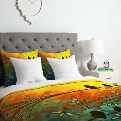Birds of A Feather Duvet Cover Set Size: Queen