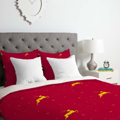 Reindeer Stars Duvet Cover Set Size: Twin/Twin XL
