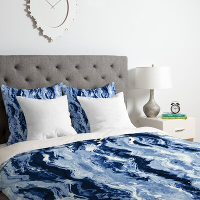 Ocean Melt Duvet Cover Set Size: Queen
