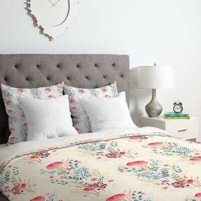 Iveta Abolina Strawberry Punch Duvet Cover Set Size: King
