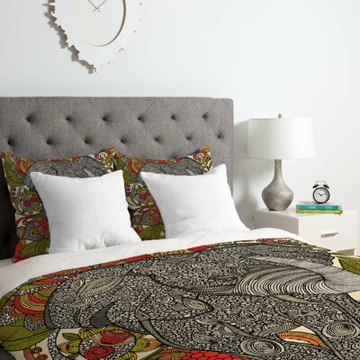 The Elephant Duvet Cover Set Size: Queen
