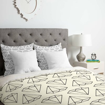 Diamond Print 2 Duvet Cover Set Size: Queen
