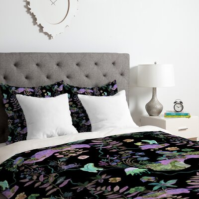 Rachelle Roberts Coral Rainforest Duvet Cover Set Size: Queen