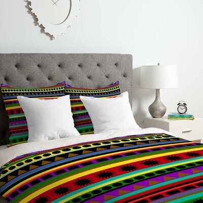 Romi Vega Heavy Pattern Duvet Cover Set Size: King