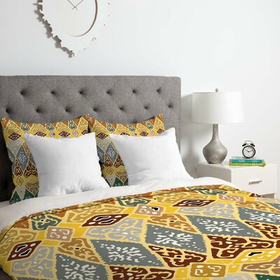 Diamond Tile Duvet Cover Set Size: Queen