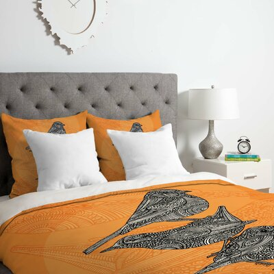 3 Little Birds Duvet Cover Set Size: Queen