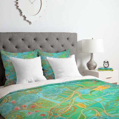Stephanie Corfee Secret Garden Duvet Cover Set Size: Queen