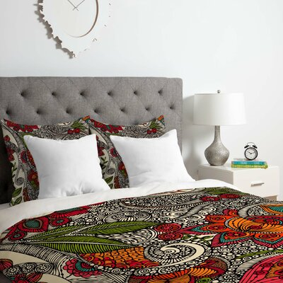 Flowers Duvet Cover Set Size: Twin/Twin XL