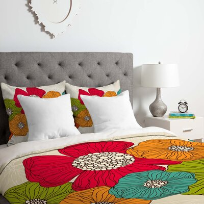 Valentina Ramos Flowers Duvet Cover Set Size: Twin/Twin XL