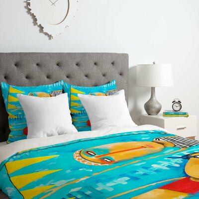 Swimming is Hard Duvet Cover Set Size: King