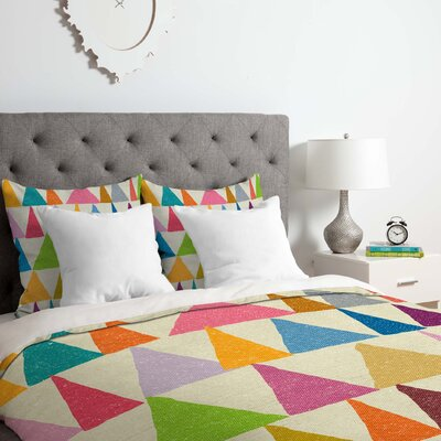 Analogous Shapes in Bloom Duvet Cover Set Size: King