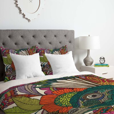 Valentina Ramos Alexis and the Flowers Duvet Cover Set Size: Queen
