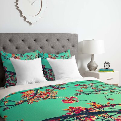 Summer Bloom Duvet Cover Set Size: Queen