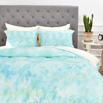 Sparkling Sea Duvet Cover Set Size: King