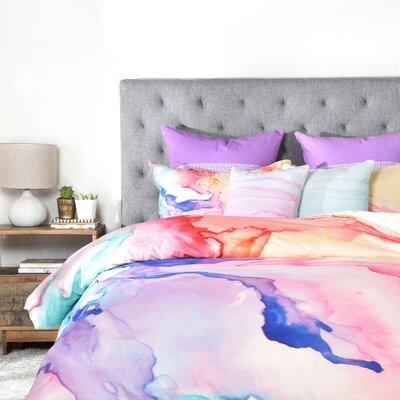Color My World Duvet Cover Set Size: Queen