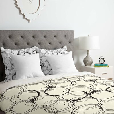Circles Duvet Cover Set Size: King