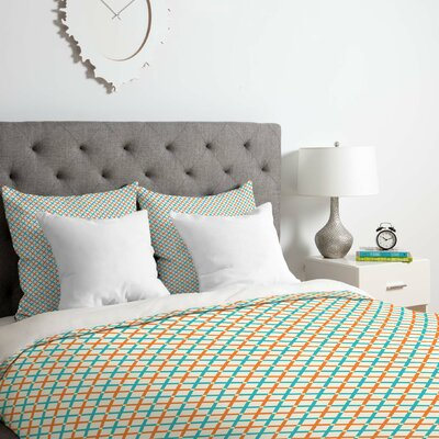 X Check Duvet Cover Set Size: Twin/Twin XL