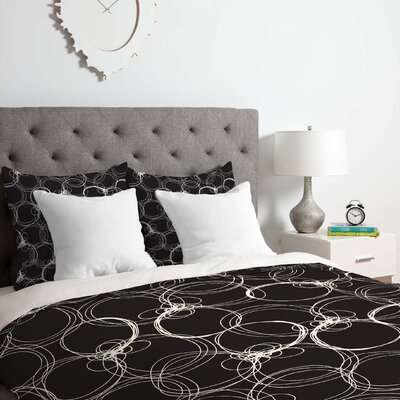 Circles 1 Duvet Cover Set Size: King