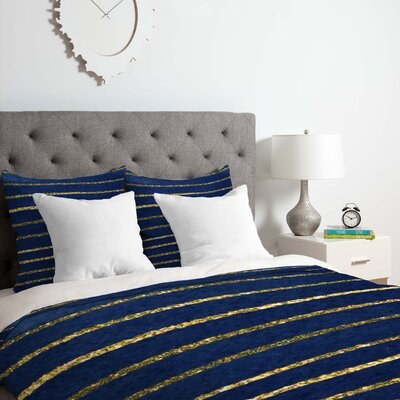 Nautical Sparkle Duvet Cover Set Size: King