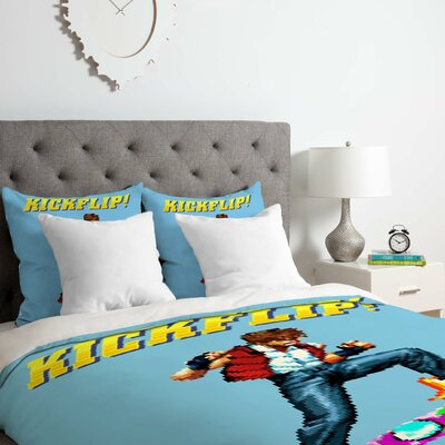 Robert Farkas Epic Kickflip Duvet Cover Set Size: Queen