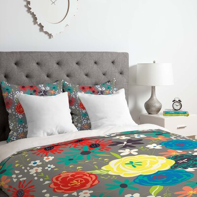 Vy La Blooming Love Duvet Cover Set Size: Twin/Twin XL