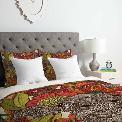 The Flowers Duvet Cover Set Size: Queen