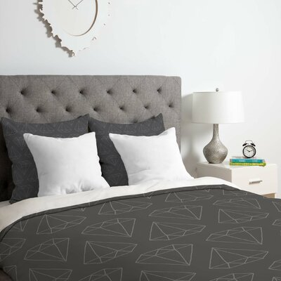 Diamond Print 1 Duvet Cover Set Size: King